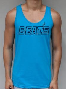 Beats - Neon Blue Tank Top - EDM Clothing from JimmyTheSaint