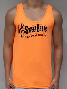 Sweet Beats - Neon Orange Tank Top - EDC Clothing from JimmyTheSaint