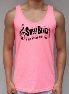 Sweet Beats - Neon Pink Tank Top - EDC Clothing from JimmyTheSaint
