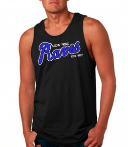 New Age Raves Black Tank Top Neon Blue - Rave Clothing from JimmyTheSaint