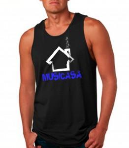 Musicasa Black Tank Top Neon Blue - EDM Clothing from JimmyTheSaint
