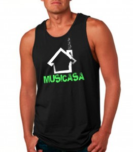 Musicasa Black Tank Top Neon Green - EDM Clothing from JimmyTheSaint