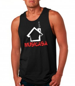 Musicasa Black Tank Top Neon Red - EDM Clothing from JimmyTheSaint