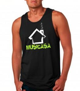 Musicasa Black Tank Top Neon Yellow - EDM Clothing from JimmyTheSaint