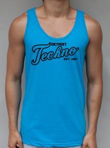 Techno City Neon Blue Tank Top - DJ Clothing from JimmyTheSaint