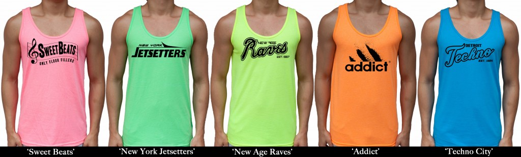 Neon Tank Tops from JimmyTheSaint Clothing