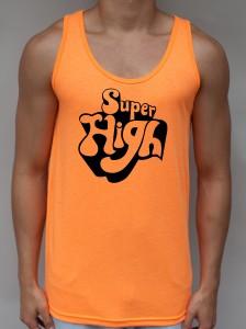 Super High Neon Orange Tank Top - EDM Clothing from JimmyTheSaint
