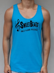 Sweet Beats Neon Blue Tank Top - Club Clothing from JimmyTheSaint