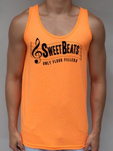 Sweet Beats Neon Orange Tank Top - Club Clothing from JimmyTheSaint