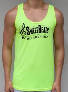 Sweet Beats Neon Yellow Tank Top - Club Clothing from JimmyTheSaint