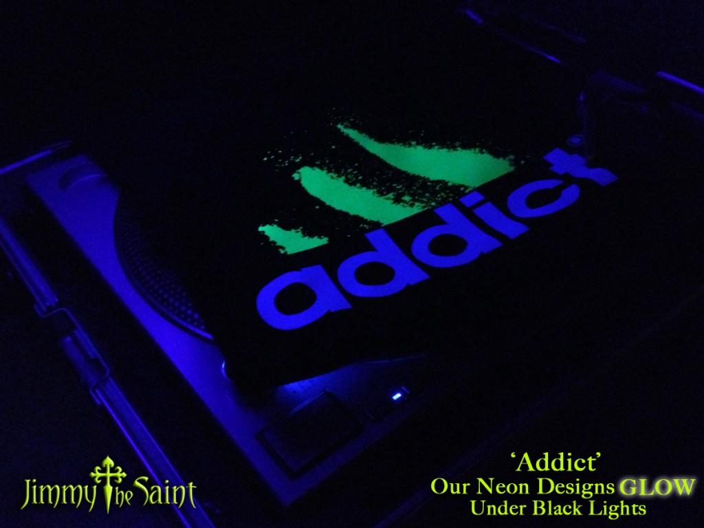 JimmyTheSaint - DJ Turntable Black Light Party Clothing