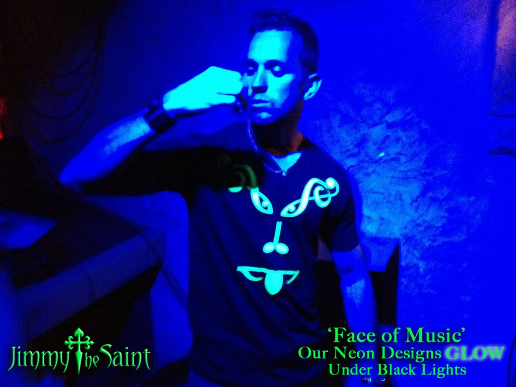 JimmyTheSaint - Face of Music - Black Light Party Clothes