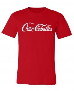 Enjoy Chus & Ceballos Men's Red Crew Neck T-Shirt