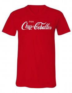 Enjoy Chus & Ceballos Men's Red V-Neck T-Shirt