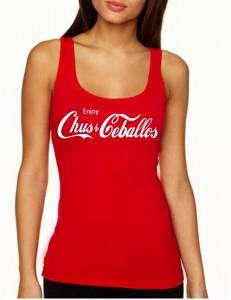 Enjoy Chus & Ceballos Women's Red Tank Top